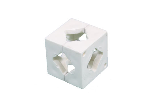 Photo Booth Frame Connector Block - White
